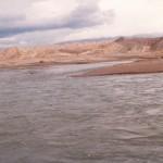 """Río Colorado aguas abajo de Buta Ranquil (""""El Portón"""")"""