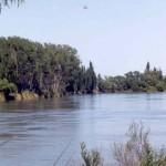 Río Colorado en estación Paso Alsina (Provincia de Buenos Aires)