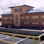 Acueducto Río Colorado (La Pampa) - Piletas y Edificio de Control