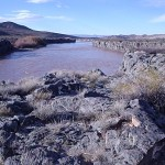 Río Colorado en Buta Ranquil (Colada de basalto)