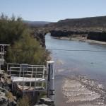 Río Colorado en estación de aforos Buta Ranquil