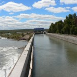 Central hidroeléctrica Salto Andersen (etapa construcción)