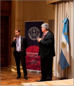 Dr. Carlos Luisoni, palabras de bienvenida.