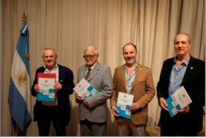 Ings. Juan Enrique Perl, Néstor Arias, Lic. Sergio Mogliati e Ing. Daniel Petri, disertantes.